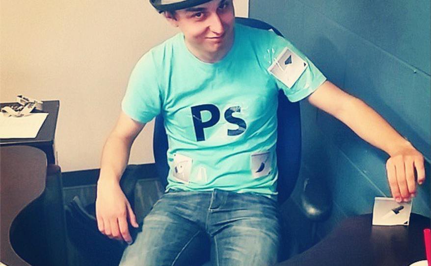 Andrew as Photoshop. #nerdlife