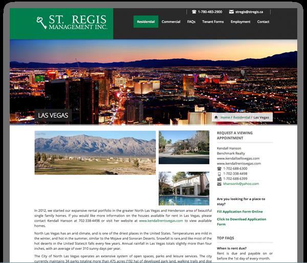 Rental Properties Websites: Clickspace Interactive
